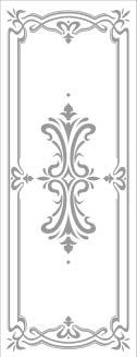 Rectangle Door Stencil Pattern   Victorian #1